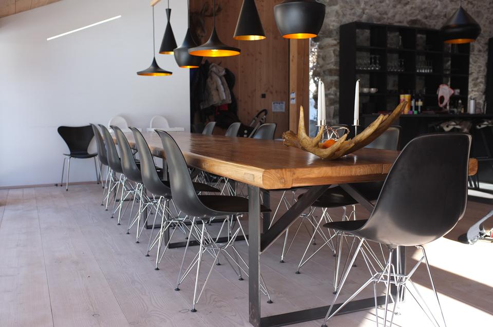 boden wand decke douglasie dielen f r chalet in chamonix pur natur. Black Bedroom Furniture Sets. Home Design Ideas