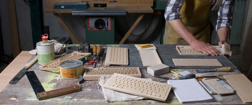 Fertigstellung und Schleifen des Holzes
