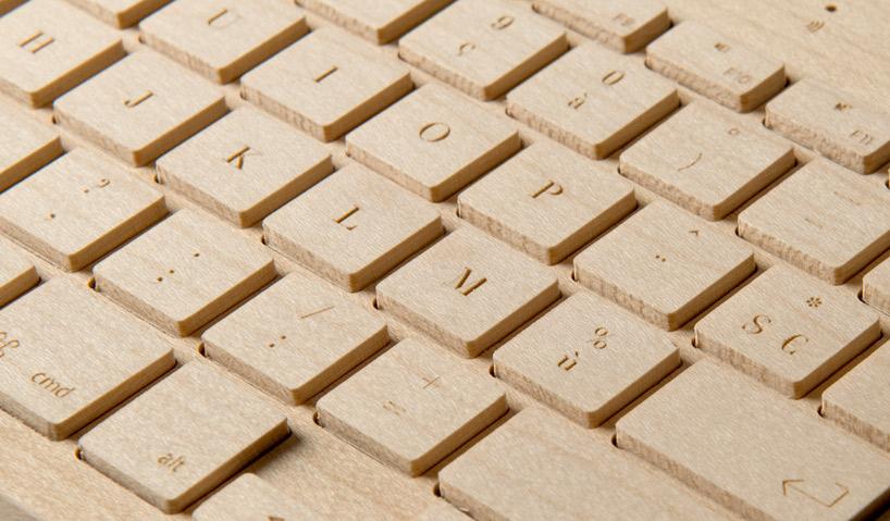Detailansicht der einzelnen Tasten und des Fonts