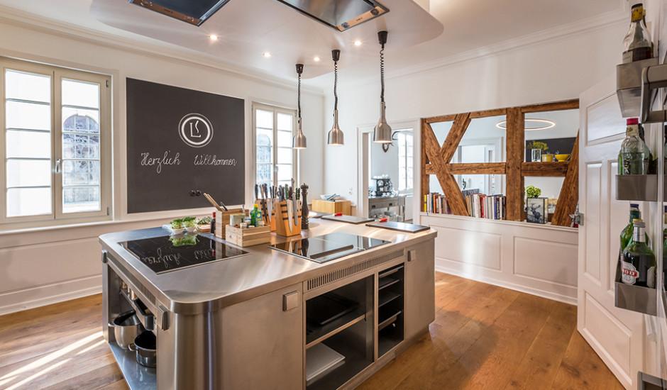 Eiche Dielen für die Kochschule von Andrea Lange
